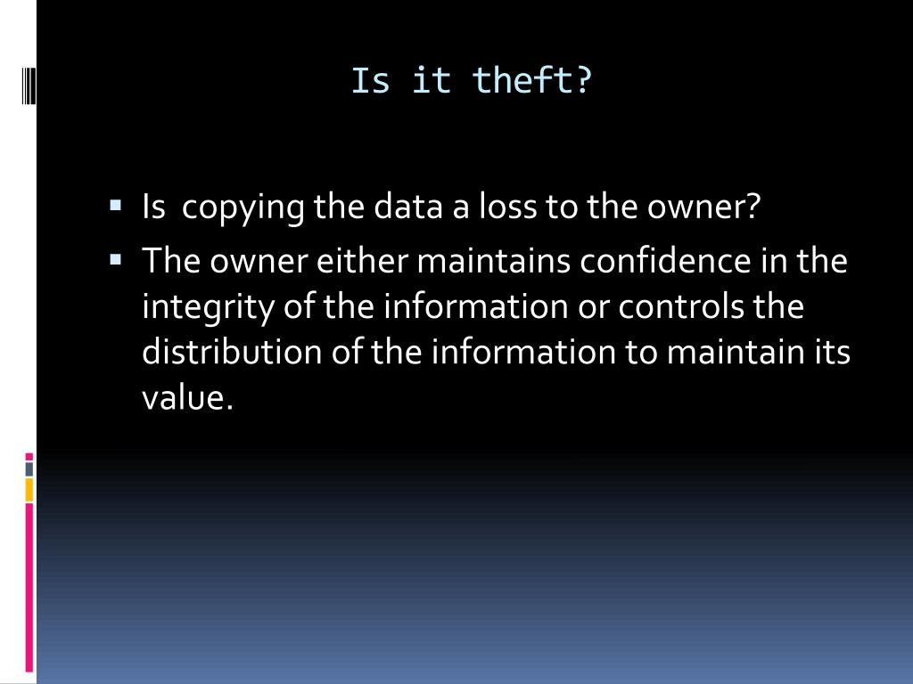 Is it theft?