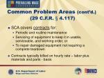 common problem areas cont d 29 c f r 4 117