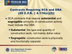 contracts requiring sca and dba 29 c f r 4 116 c 212