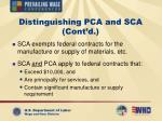 distinguishing pca and sca cont d