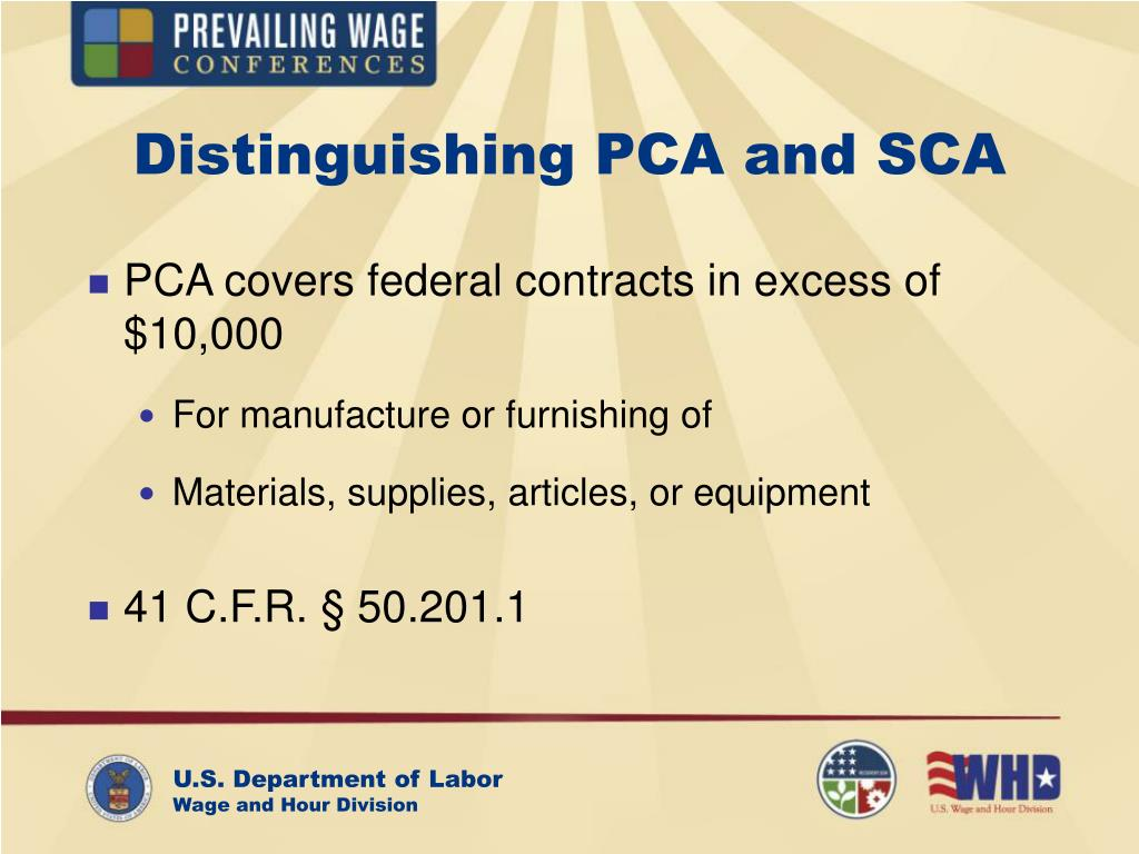 Distinguishing PCA and SCA