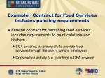example contract for food services includes painting requirements