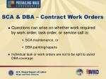 sca dba contract work orders