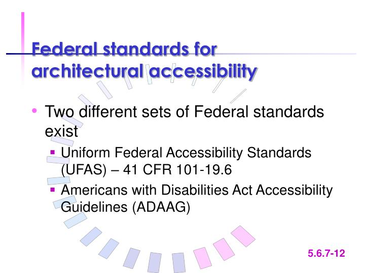 Federal standards for