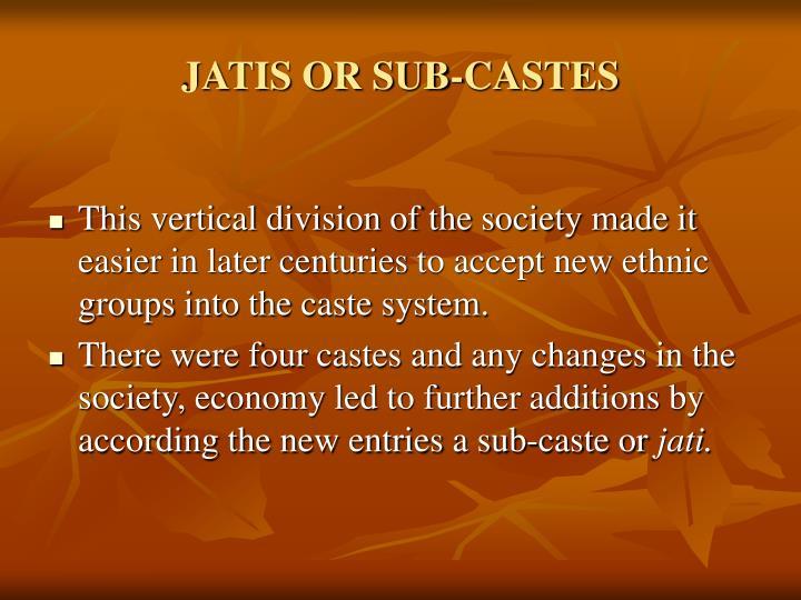 JATIS OR SUB-CASTES