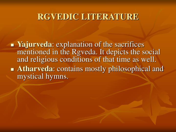 RGVEDIC LITERATURE