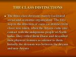 the class distinctions