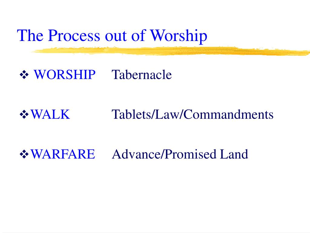 The Process out of Worship