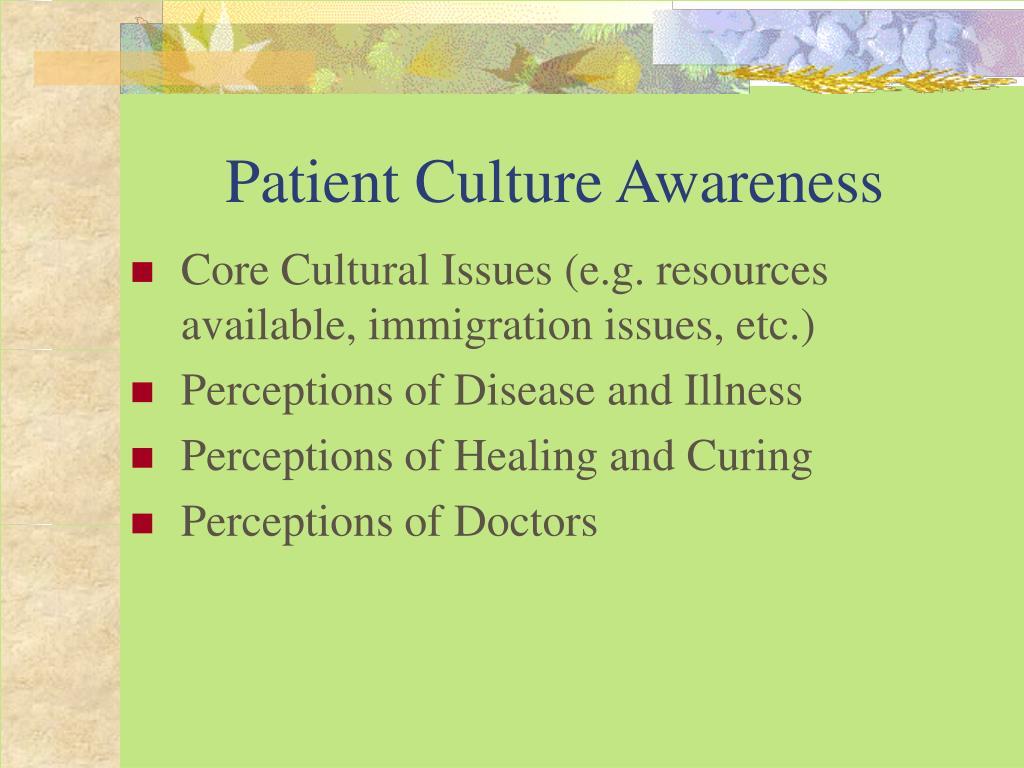 Patient Culture Awareness