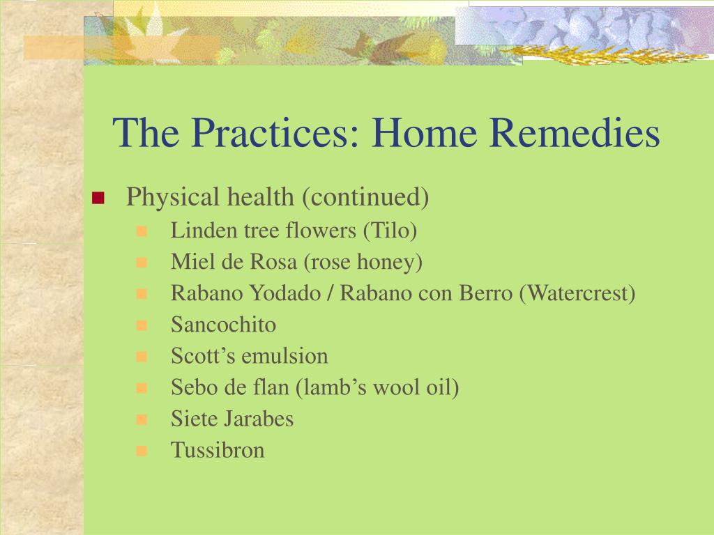 The Practices: Home Remedies