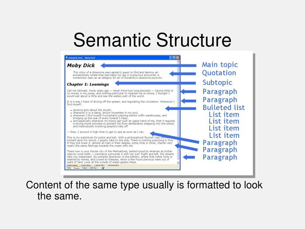 Semantic Structure