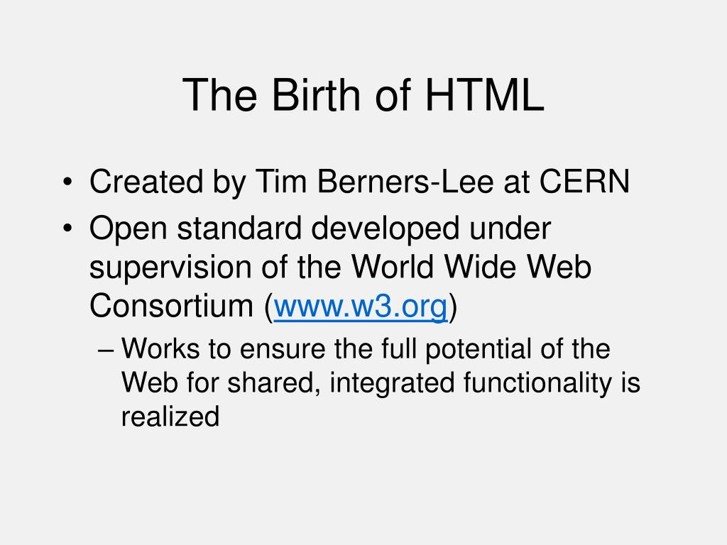 The Birth of HTML