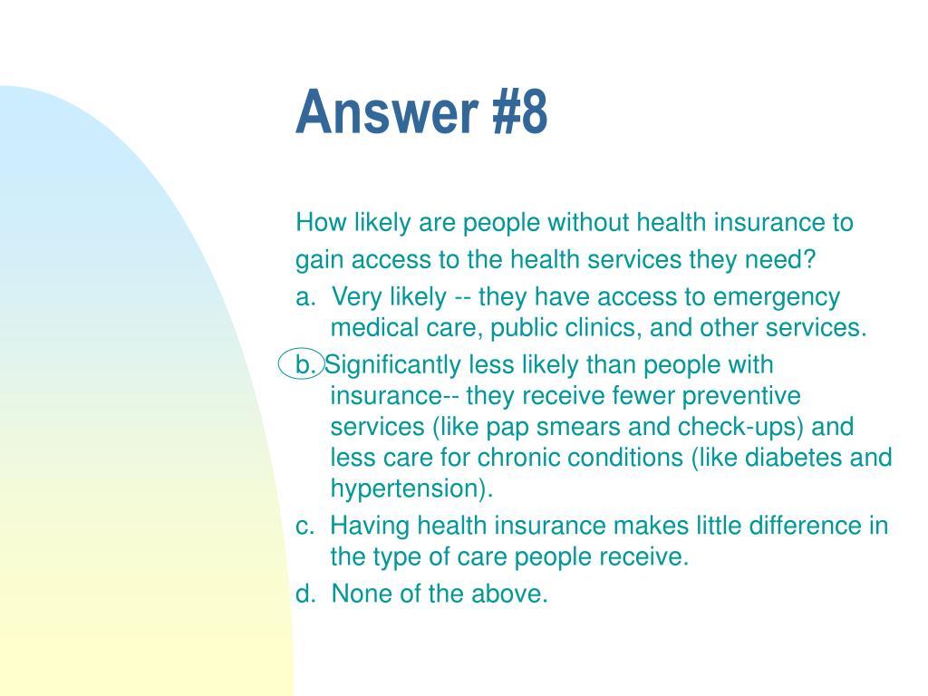 Answer #8