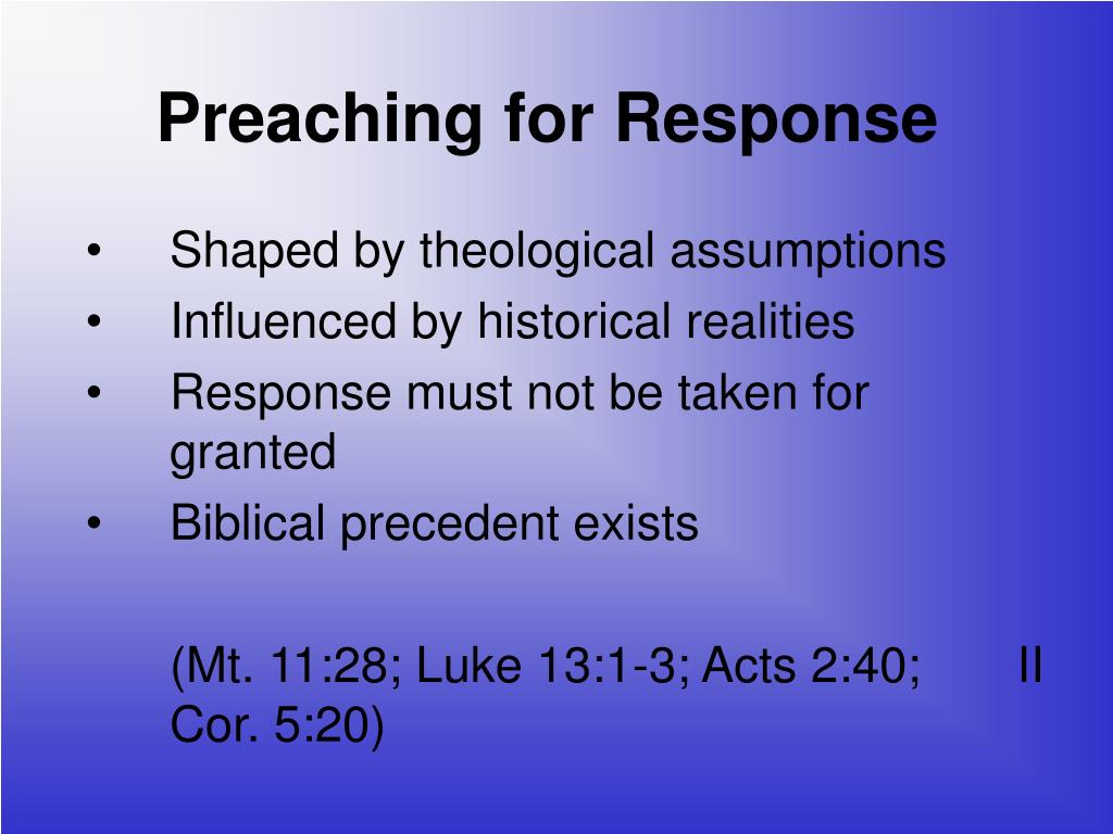 Preaching for Response