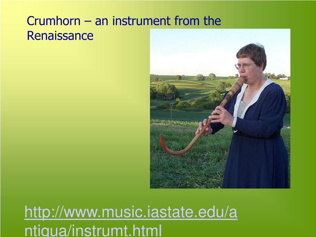 Crumhorn – an instrument from the Renaissance