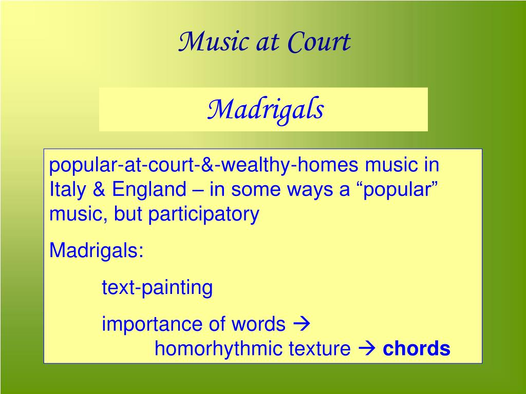 Music at Court