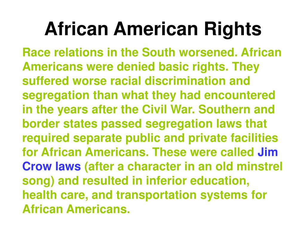 African American Rights