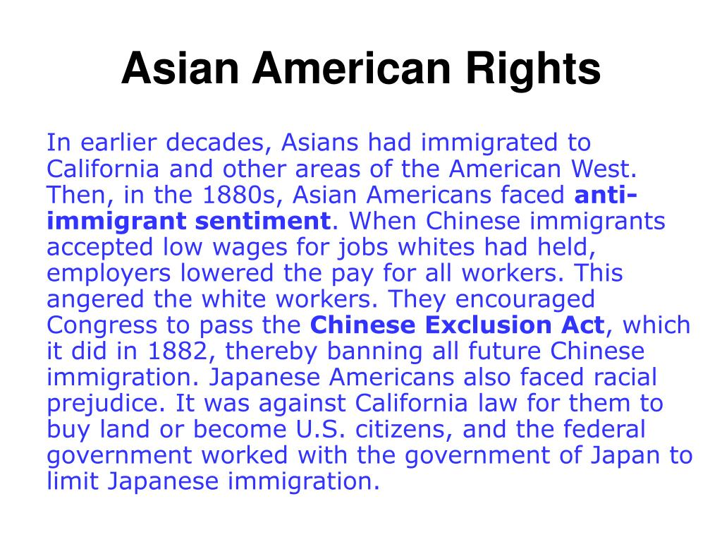 Asian American Rights
