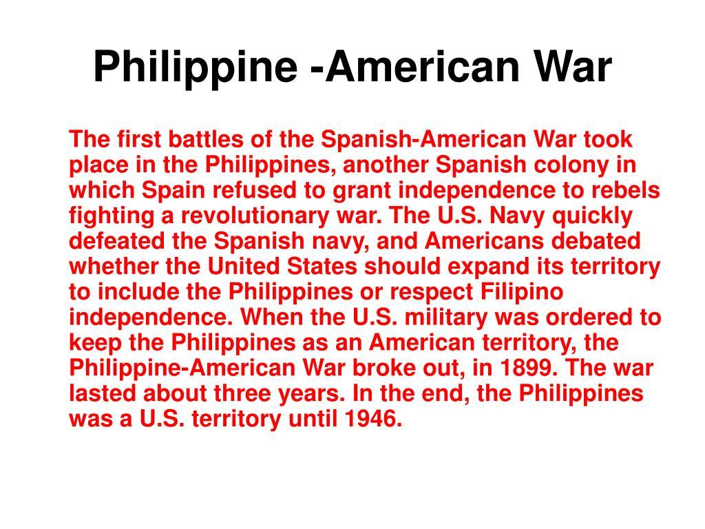 Philippine -American War