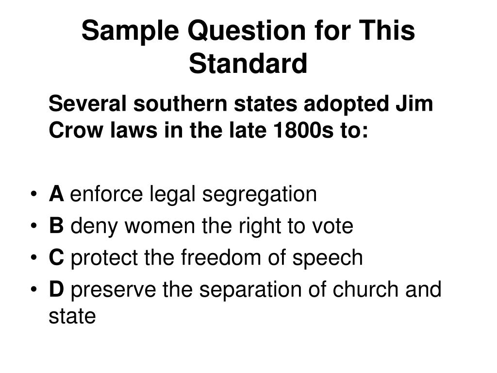 Sample Question for This Standard
