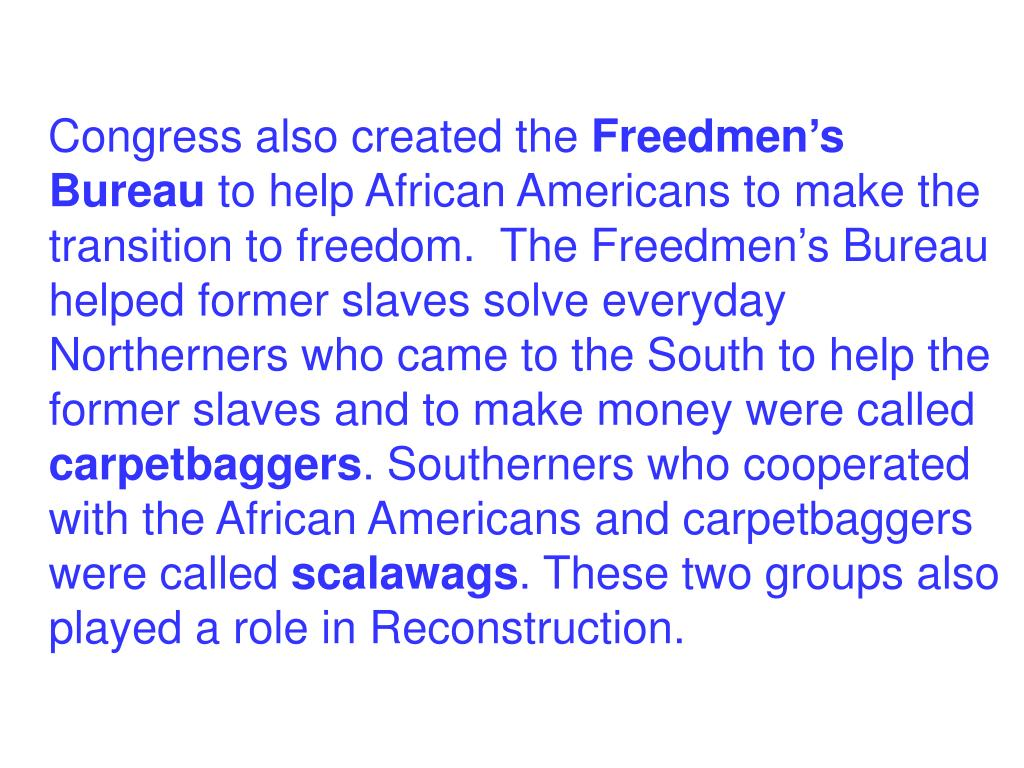 Congress also created the