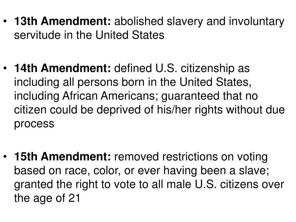 13th Amendment: