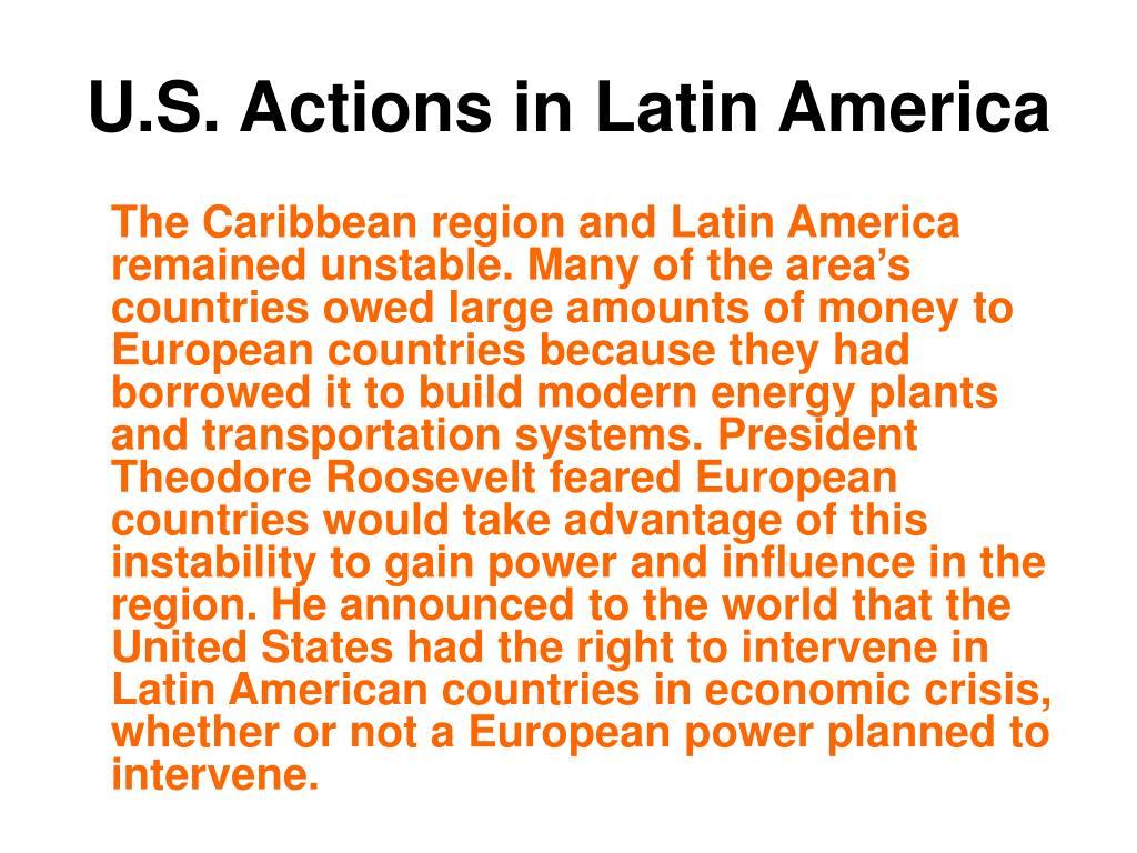 U.S. Actions in Latin America