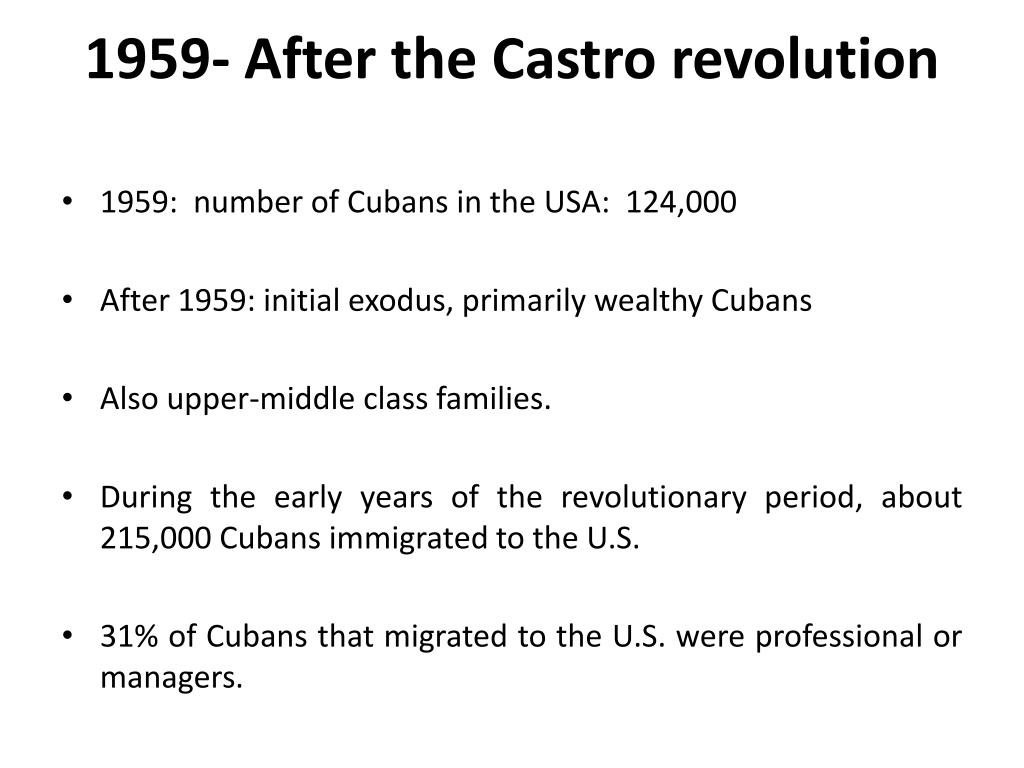 1959- After the Castro revolution