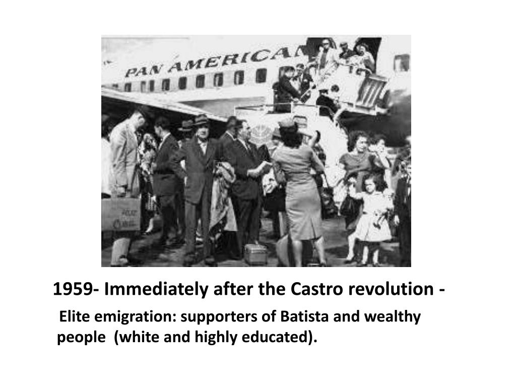 1959- Immediately after the Castro revolution -