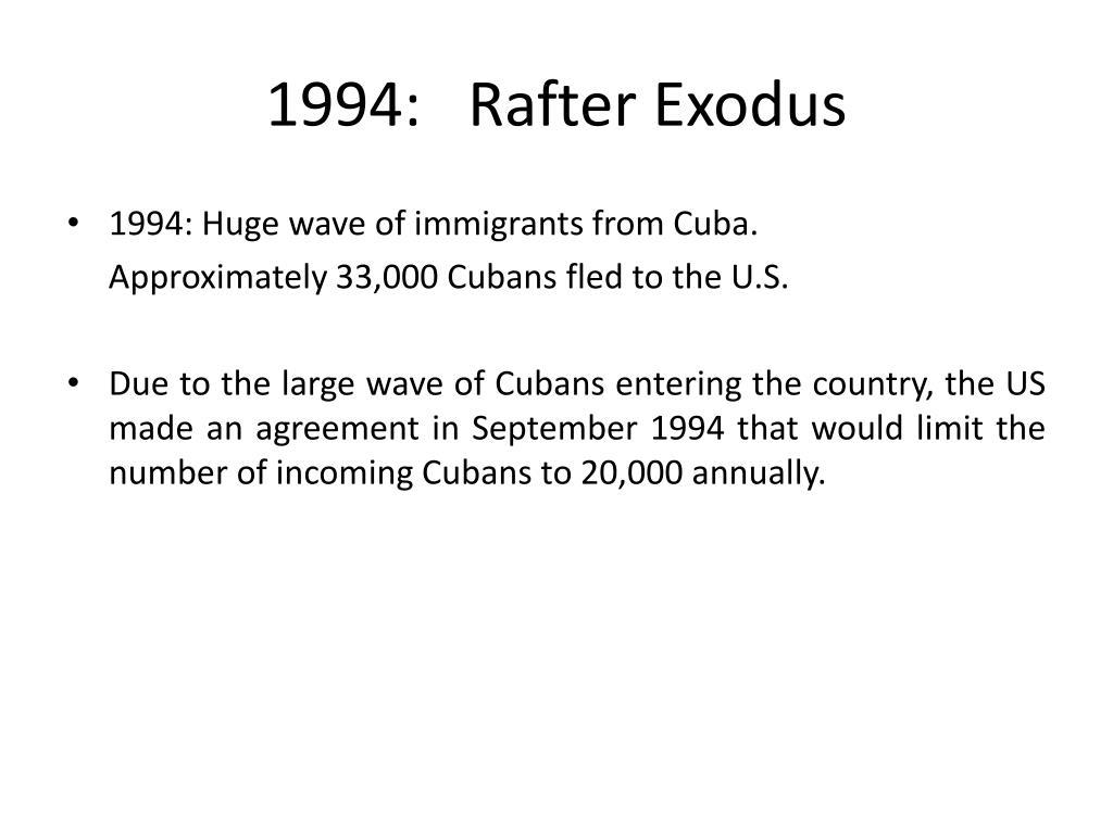 1994: Rafter Exodus