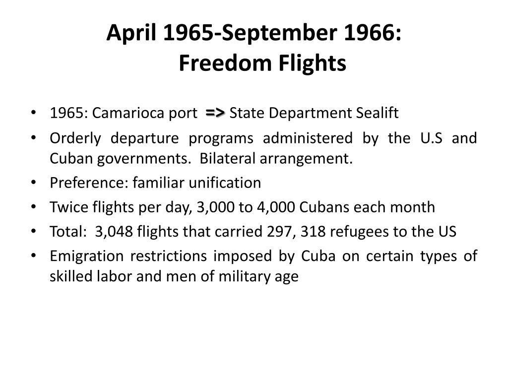 April 1965-September 1966: