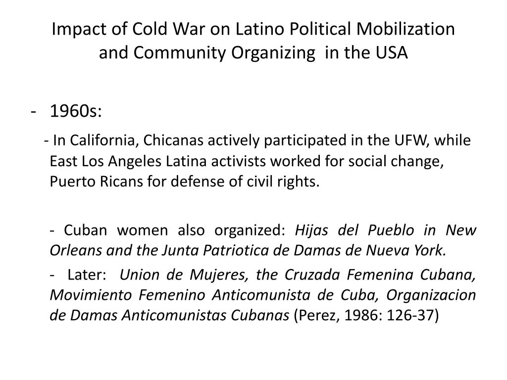 Impact of Cold War on Latino Political Mobilization