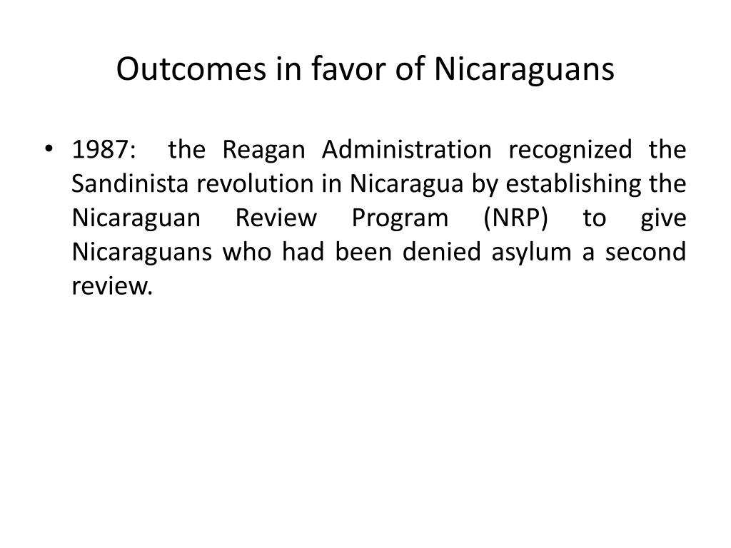 Outcomes in favor of Nicaraguans