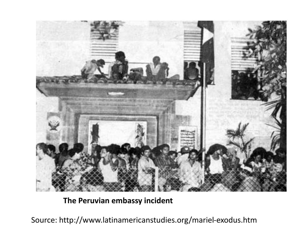 The Peruvian embassy incident