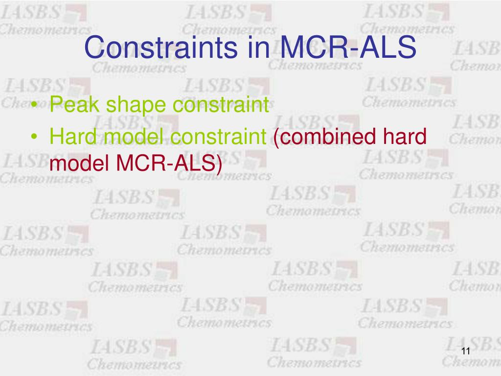 Constraints in MCR-ALS