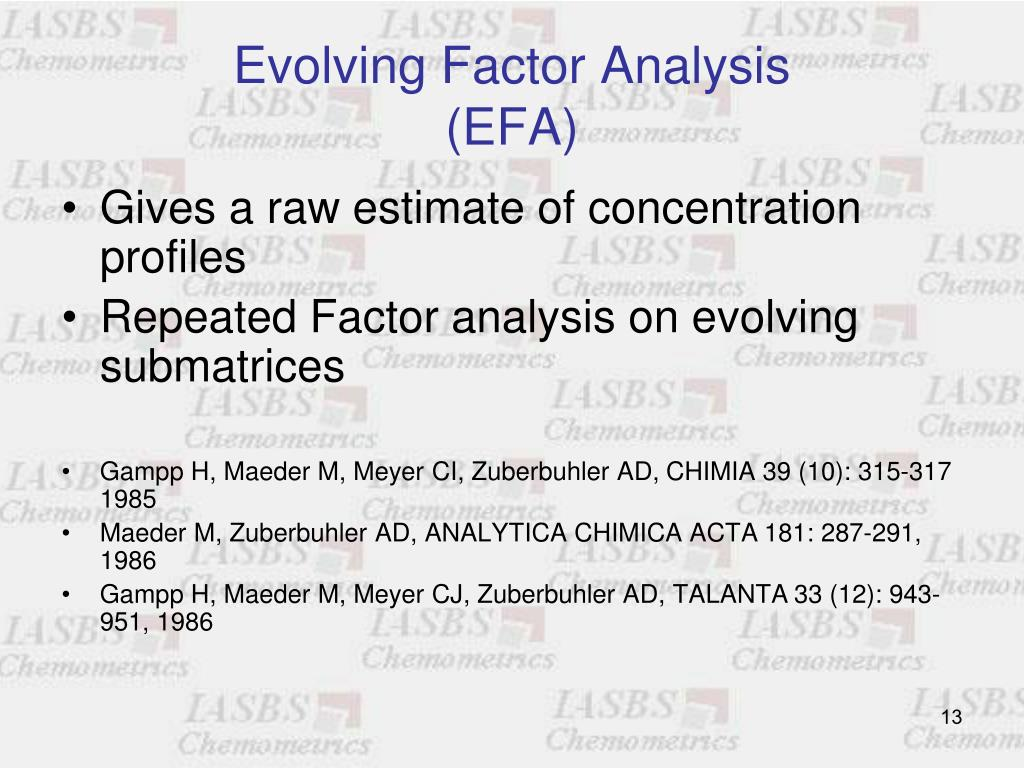 Evolving Factor Analysis