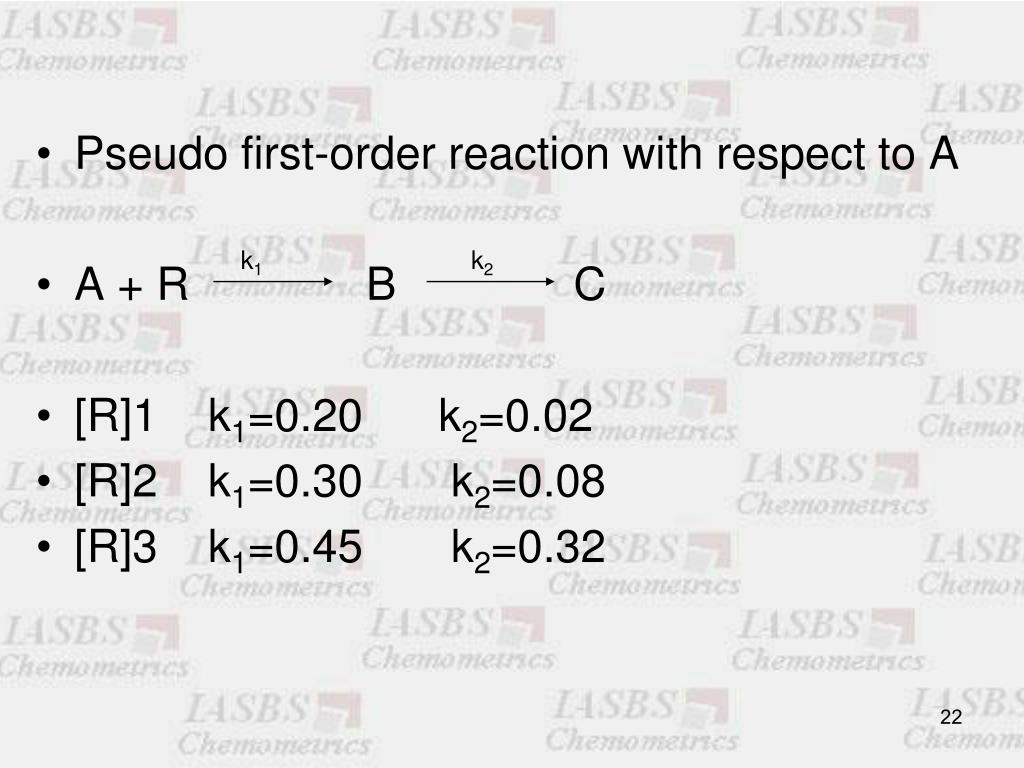 Pseudo first-order reaction with respect to A