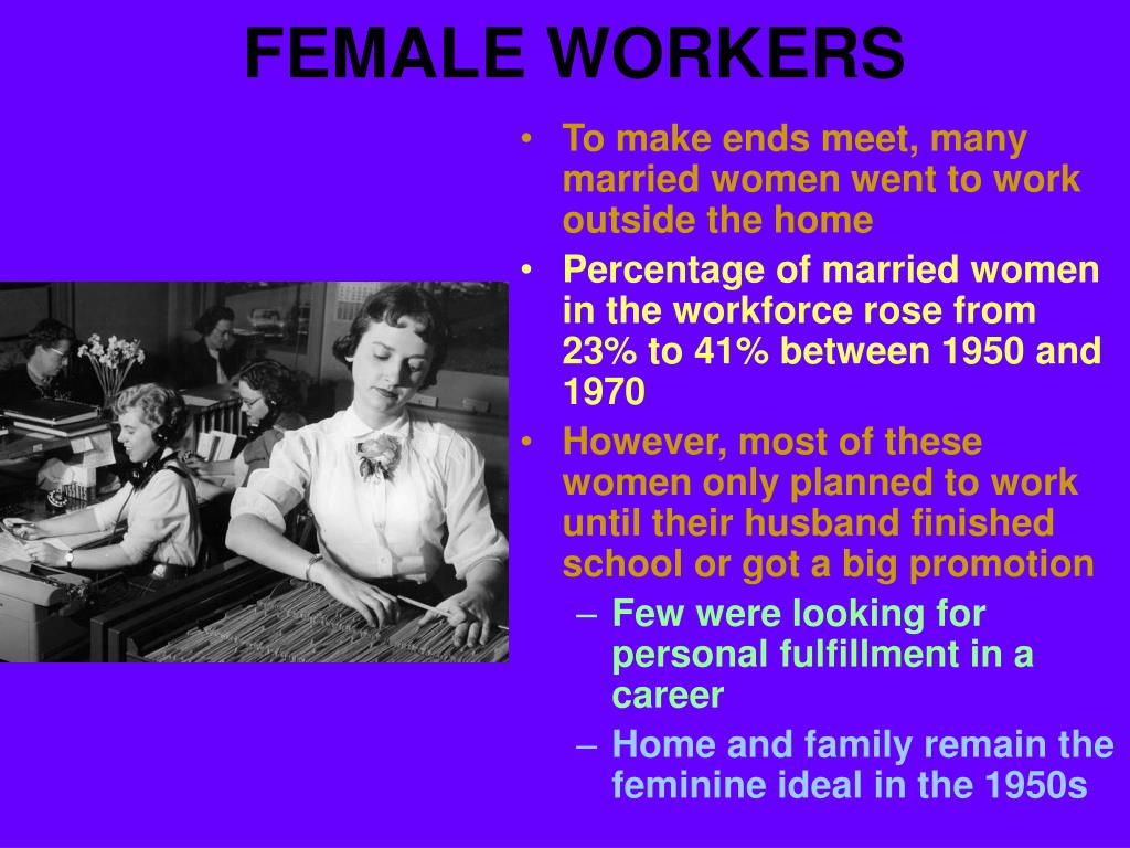 FEMALE WORKERS