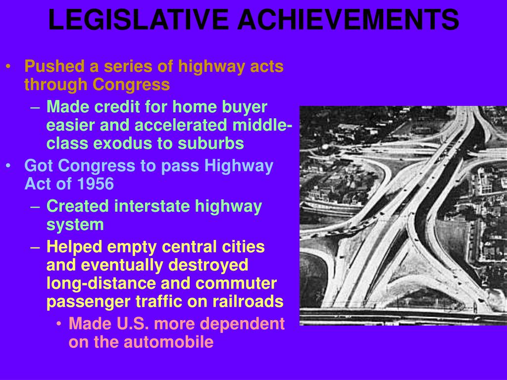 LEGISLATIVE ACHIEVEMENTS