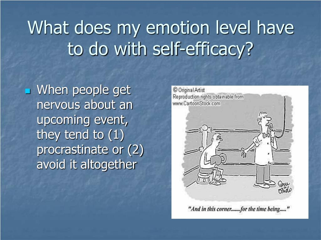 What does my emotion level have to do with self-efficacy?