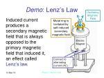 demo lenz s law