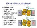 electric motor analyzed