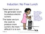 induction no free lunch