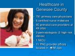 healthcare in genesee county