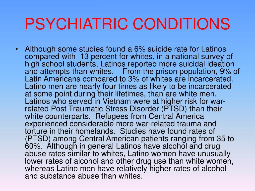 PSYCHIATRIC CONDITIONS