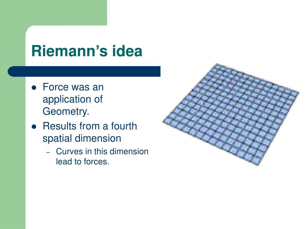 Riemann's idea
