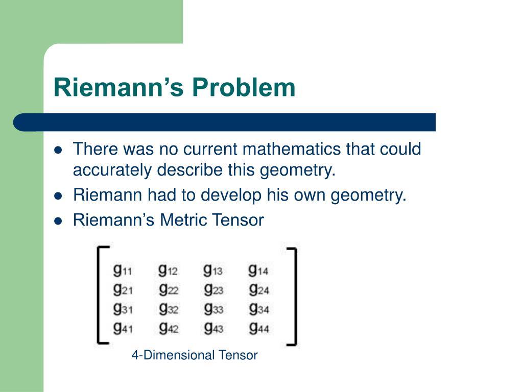 Riemann's Problem