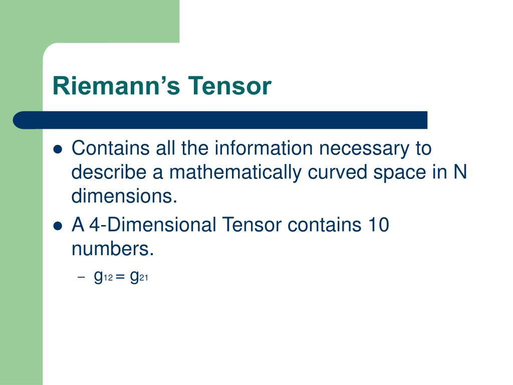 Riemann's Tensor