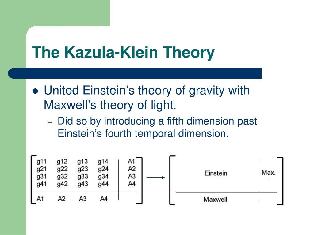 The Kazula-Klein Theory