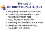 element of information literacy